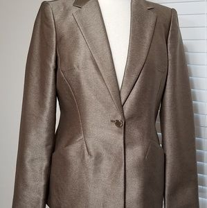 Calvin Klein Womens Brown Boyfriend Blazer